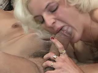 Two men screw girl and jizz on her