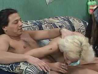 Hot blonde shared by depraved dudes