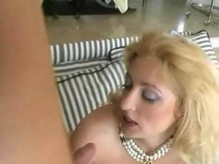 Fancy blonde spreading ass for cock