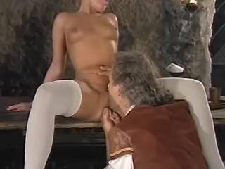 Gorgeous mistress gets cum from nobleman in castle