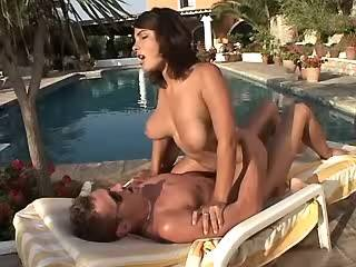 Cockloving ingenious beauty cockrides dude outdoor